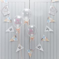 Ginger Ray Vintage Grey, Peach & Pastel Baby Shower Elephant Party Bunting - Little One Ginger Ray Baby Bunting, Baby Shower Bunting, Birthday Bunting, Baby Boy Shower, Bunting Banner, Baby Shower Photo Booth, Baby Shower Photos, Elephant Party, Elephant Baby Showers