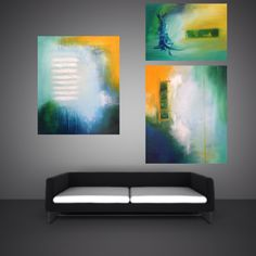 Abstract acrylic paintings at www.HeatherBuechler.com #art