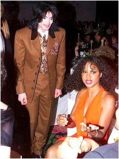 Michael Jackson and Toni Braxton Damn Mike looks creepy in this picture