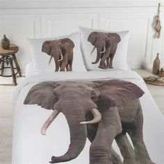 Papillon Ollie dekbedovertrek - www.smulderstextiel.nl - #olifant #dekbedovertrek #beddengoed #bedding #sheets #bedroom #slaapkamer