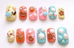 Japanese 3D nails lolita accessory Harajuku Jfashion by Aya1gou