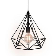 Diamond Industrial DIY Metal Mesh Black Barn Ceiling Pendant Lamp Light DIMON West men lights pendant light named DIMON reveals your overall kitchen island or l