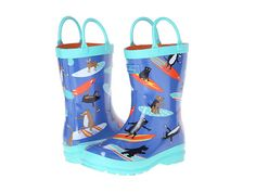 Hatley Kids Rain Boots (Toddler/Little Kid) Surfing Dogs - Zappos.com Free Shipping BOTH Ways