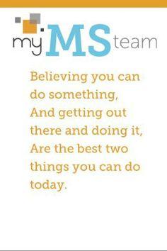 Get started on MyMSTeam.com! #MultipleSclerosis