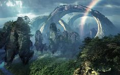 Charlie: This is a beautiful screen shot from pandora (avatar) this tells me that we could use great rock structures for the background. Avatar Films, Avatar Movie, Fantasy Places, Fantasy World, Fantasy Art, Renoir, Avatar James Cameron, Stephen Lang, Alien Worlds