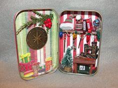 Santa's Workshop Altoids Tin Christmas Holiday by Apensons on Etsy, $28.00