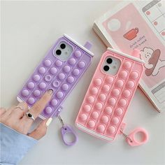 Kawaii Phone Case, Girl Phone Cases, Cute Phone Cases, Heart Bubbles, Figet Toys, Cool Fidget Toys, Pretty Iphone Cases, Aesthetic Phone Case, Iphone Accessories