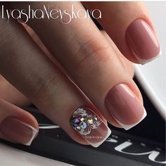 Got some Fall nails, I'm hoping the weather will get the hint - NailiDeasTrends Nails Now, Love Nails, Pretty Nails, Wedding Day Nails, Bridal Nails, Nail Manicure, Gel Nails, Diy Nail Designs, Pastel Nails