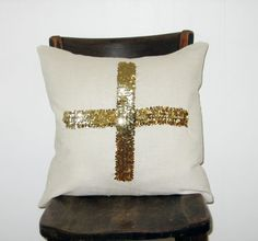sequined crux pillow $64