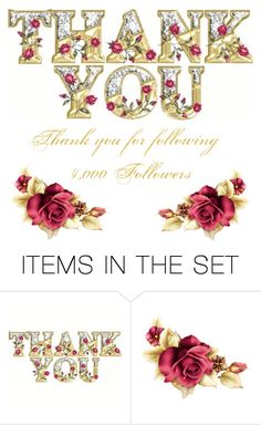 """Thank You ~ 4,000 Followers"" by donnalynnginn ❤ liked on Polyvore featuring art"