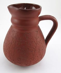 Early Rookwood Red Clay Pitcher 1881. #antique #vintage #appraisal