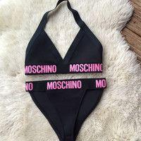 Reworked Handmade Moschino Lingerie or #Fashion #Bikini #set
