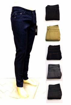 Kayden K Mens Skinny Fit Stretch Jeans Raw Denim Pants SK101