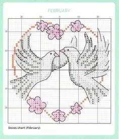 February Cross Stitch Chart