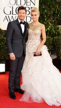 Ryan Seacrest wearing Burberry tailoring to the #GoldenGlobes in L.A. last night