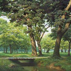 An Jung-hwan nature art Nature Paintings, Beautiful Paintings, Beautiful Landscapes, Oil Paintings, Landscape Illustration, Landscape Art, Landscape Paintings, Realistic Oil Painting, Traditional Paintings