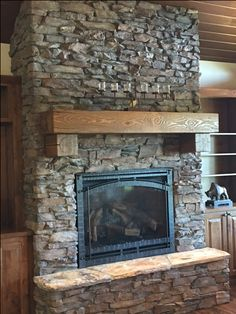 Selkirk Stone Durango Brown Shadow Ledge Fireplace