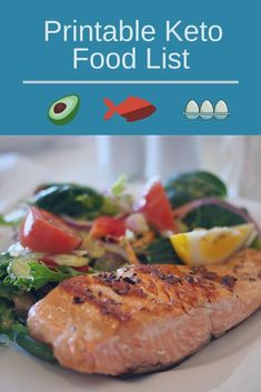 Would you like a printable list of foods that are allowed on Keto? Get this printable keto food list by clicking the link below. Low Fat Diets, High Fat Diet, No Carb Diets, Keto Food List, Food Lists, Keto Clarity, Low Carb Veggies, Keto Flu, Healthy Oils