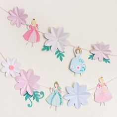 Princess Party Garland by Beau-coup
