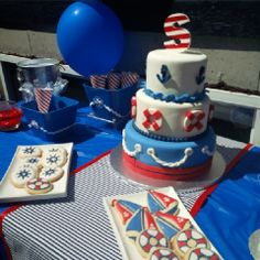 Cake at a Nautical Party #nautical #partycake