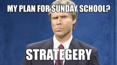 If you like this Sunday School meme, then you are going to love the Back to School Checklist for Sunday School. Check it out by following the linked image above. #sundayschool #sunday #school