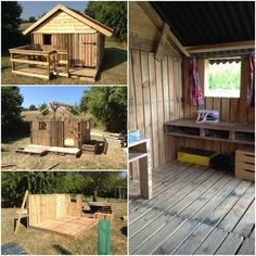 Nice little house made with salvaged canning pallets by Edwin de Barry! Incredible work!