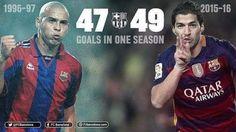Con FC Barcelona: -Luis Suárez (2015/16): 49 goles en 48...