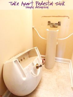 Photos On How to Install a New Bathroom Faucet in a Pedestal Sink MoenDIYer
