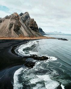 Black sand beach, North Canterbury, New Zealand