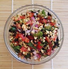 Сыроедческая гречневая каша с овощами