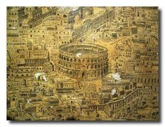 ancient maps antica mappa di Roma