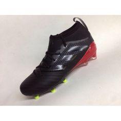 Adidas ACE Fotbollsskor - Billig Adidas Ace 17.1 Primeknit FG Leather Svart Fotbollsskor