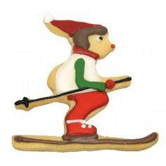 #design3000 #baking #backen #naschen #cookiecutter Ausstechform Schurli, der Skifahrer - Motivausstecher.