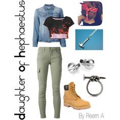 Daughter Of Hephaestus Casual Outfit, Cabin 9, Percy Jackson Inspired Outfit