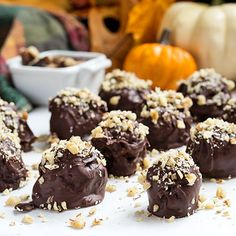 Have a leftover slice of pumpkin pie in the fridge? Rather than just serving a slice of pie to one person, make these truffles so multiple people can have a treat!