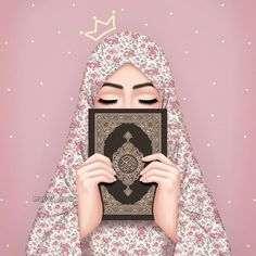 Image discovered by rose of paradise. Find images and videos about peace, islam and hijab on We Heart It - the app to get lost in what you love. Hipster Vintage, Style Hipster, Vintage Style, Hijabi Girl, Girl Hijab, Cartoon Wallpaper, Iphone Wallpaper, Hijab Drawing, Moslem