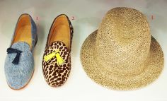 LOOK 1 - Dieppa Restrepo Gaston Tassel Loafers $265.00  LOOK 2 - Dieppa Restrepo Gaston Fluro Tassel Loafers $395.00   LOOK 3 - Scha Chicago Hat $205.00