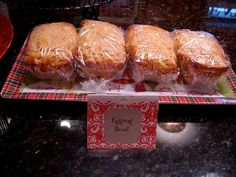 Eggnog Bread with cinnamon cream cheese - mini loaves make nice neighbor gifts