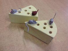 Blyantholder i tre og fimoleire mus