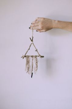 Mini Natural Crystal Triangle Dreamcatcher // Etsy