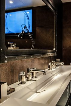 Modern bathroom with design faucet