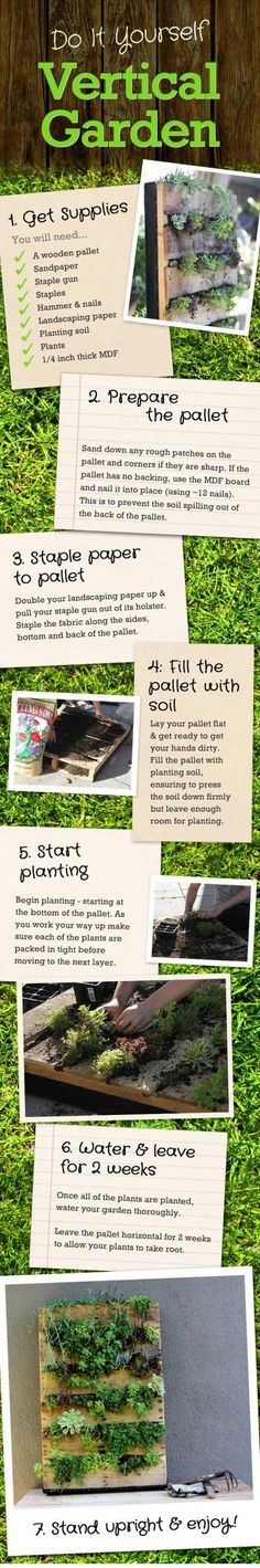 In The Photo  Are Detailed Instructions On Building A Vertical Garden. I  Did This Project And It Turned Out Wonderful. Click The PHOTO for great vertical garden ideals, videos, and more.