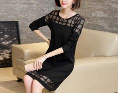 Hollow Splice Lace Dres, Php883.00