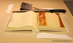 Jessicakes: How To Make An Open Book Cake