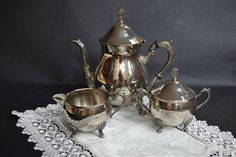 Vintage Silver plated Tea Set Silver plated by InnasCollection