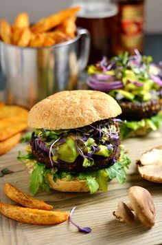 Umami Bomb Mushroom Burgers. Veggie burgers never tasted this good. These burgers are packed with mushrooms, barley, and some special ingredients that make them super savory but still vegetarian friendly.
