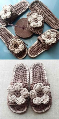 Zapatillas Trapilho - Video e Ideas Crochet Boat, Love Crochet, Knit Crochet, Crochet Shoes Pattern, Shoe Pattern, Crochet Sandals, Booties Crochet, Loom Knitting, Knitting Patterns
