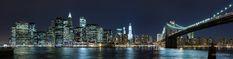 Panorámica de la zona financiera de Manhattan en Nueva York, tomada desde el puente de Brooklyn, que se ve a la derecha. Había dicho que ya no iba a subir más del viaje, pero se me había olvidado esta foto...