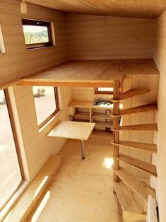 New cabin loft stairs design ideas Tiny House Stairs, Tiny House Loft, Loft Stairs, Tiny House Living, Tiny House Plans, Tiny House Design, Loft Design, Design Design, Tiny House Bedroom