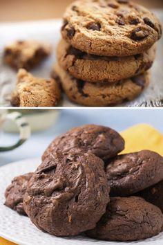 Mjamm, mjamm: leckere Cookies! Passende Rezepte findest du hier auf gofeminin.de: http://www.gofeminin.de/kochen-backen/cookies-rezept-s1376117.html #cookies #kekse